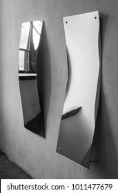 Fun mirrors room in ukrainian palace
