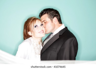 Fun and modern wedding portrait