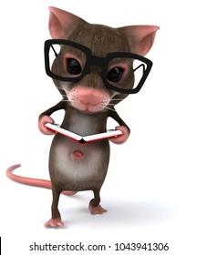 Fun mouse - 3D Illustration