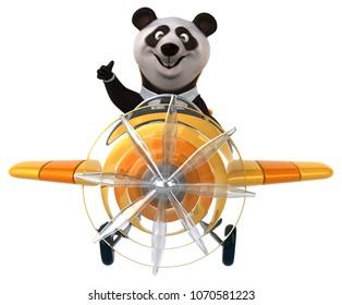 Fun panda - 3D Illustration