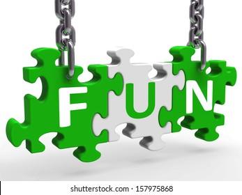 Fun Puzzle Meaning Enjoy Exciting Entertaining Or Joyful