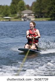 Fun ride on a kneeboard