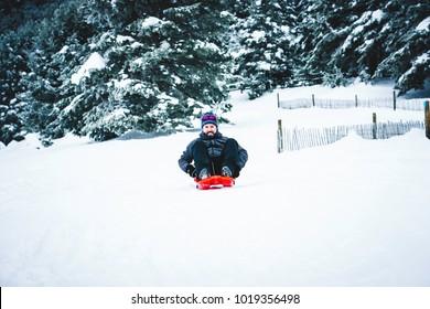 Fun at the snow while photo shooting at snow