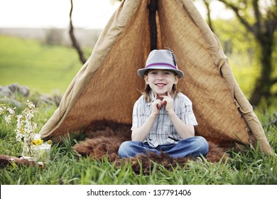 Fun tent with kids