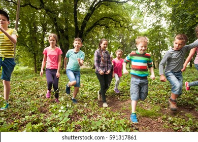 Fun time for children in summer camp