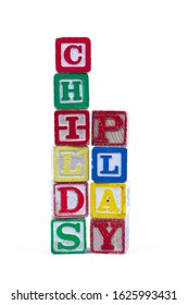 Fun words made with vintage child's blocks