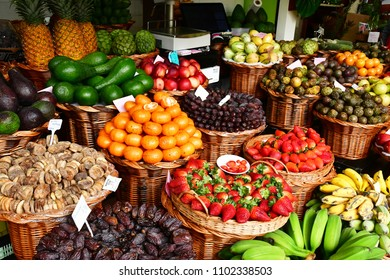 Funchal, Madeira, Portugal - february 21 2018 : market in the city centre