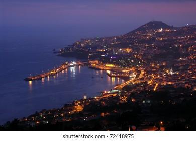 Funchal at night, Madeira