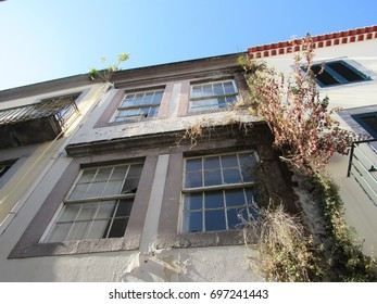 FUNCHAL, PORTUGAL - JULY 2017: Old Town Funchal, Madeira, Portugal