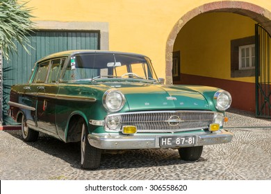 FUNCHAL, PORTUGAL - JULY 23: Oldtimer in a good condition . FUNCHAL on JULY 23, 2015.