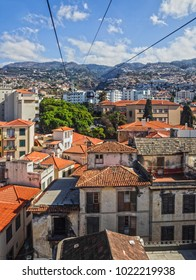 Funchal town cable car panorama, Madeira island, Portugal
