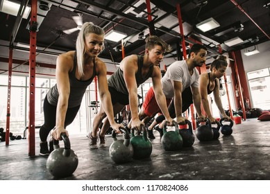 Functional training class working out