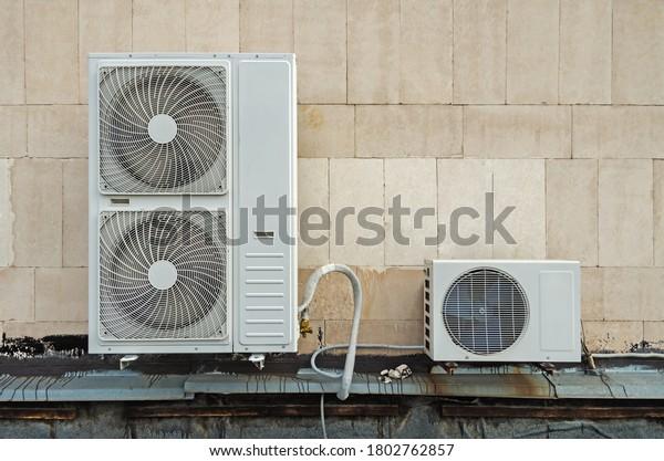 functioning-air-compressor-condenser-uni
