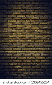 Fund damaged brick wall, detail of old bricks in the city, textured background