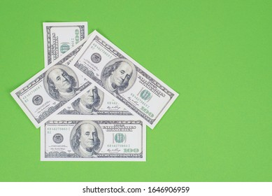 Fund for house concept. Overhead top above close up photo of small house made of american money isolated bright background with blank empty space