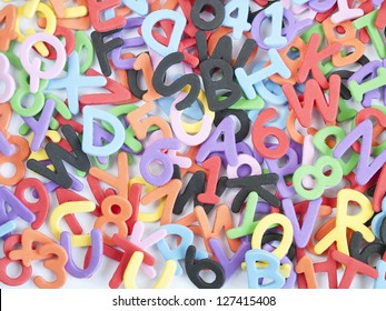 fund scrambled letters and numbers and colors