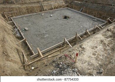 a fundament at a building site....