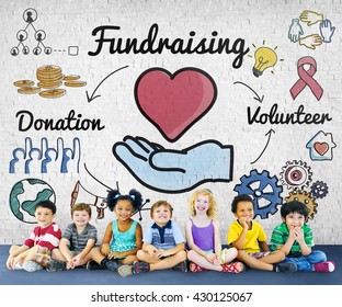 Fundraising Donation Heart Charity Welfare Concept
