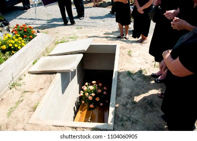 Funeral in the Cemetary