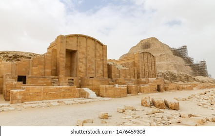Funerary complex of Djoser and Step Pyramid in Saqqara Necropolis, Cairo City, Egypt