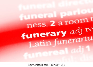 funerary word in a dictionary. funerary concept