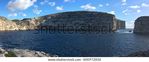 Fungus Rock in the Dwejra Bay using as Background on Wallpaper, Gozo, Malta
