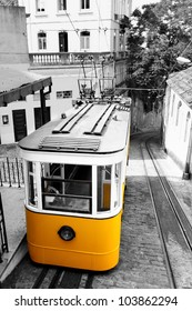 Funicular (Elevador do Lavra) in Lisbon, Portugal