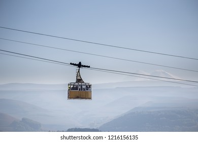 funicular in the mountains