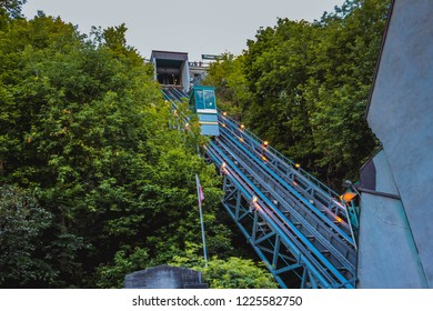Funicular on the rails