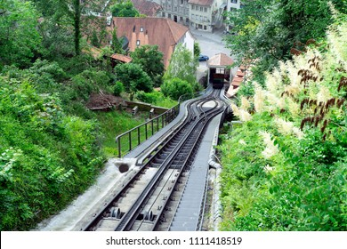 Funicular railway in Fribourg, Switzerland