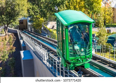 Funicular railway in Odessa, Ukraine in a beautiful summer day
