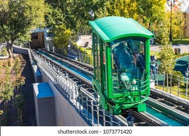 Funicular railway in Odessa, Ukraine in a beautiful summer day