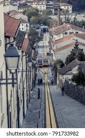 Funicular in Viseu, Portugal
