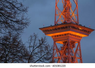 funkturm berlin germany in the evening