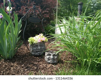 Funky Garden Ideas with planters