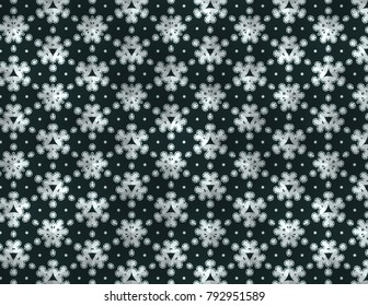 Funky Kaleidoscope with a floral feel in black and silver.