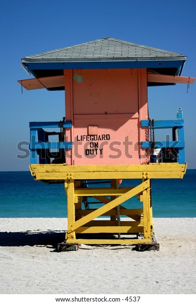 funky lifeguard shack