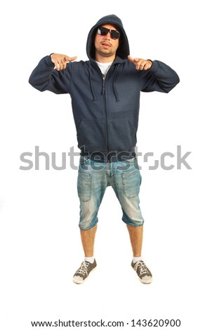 e21ccaed4698 Funky Rapper Man Gesticulate Isolated On Stock Photo (Edit Now ...
