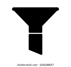 funnel icon on white background