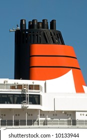 The Funnel of a luxury cruise ship
