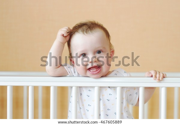 Funny Baby Age 9 Months White Stock Image Download Now
