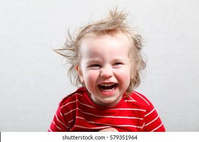 funny baby toddler blonde boy