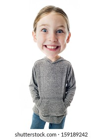 Funny Big Head Child