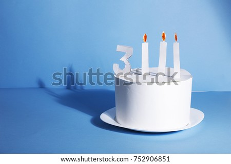 Funny Birthday Cake Entirely Made Paper Stock Photo Edit Now