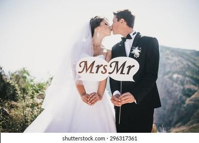 Wedding Doodle Set Bride and Groom Romantic Retro Style Retro Long Socks