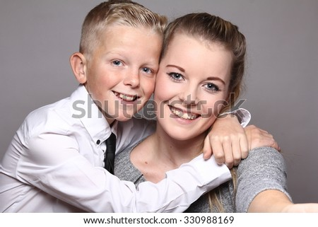 Funny Brother Sister Stock Photo Edit Now 330988169 Shutterstock