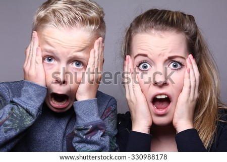 Funny Brother Sister Stock Photo Edit Now 330988178 Shutterstock