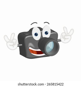 Funny Camera Illustration Cartoon Comic photo