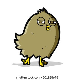funny cartoon bird