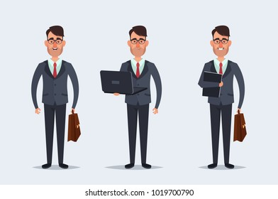 Funny Cartoon Character - Office Worker